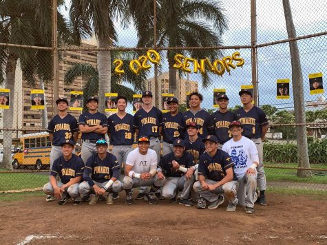 2020 Seniors of The Sons of Oahu Baseball Team