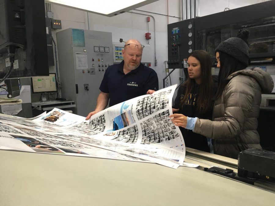 Oahuan editors see how the yearbook is printed