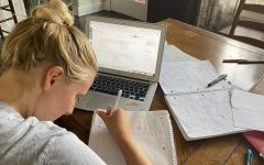 Elsa Kronen '20 studies at home during fourth quarter distance learning