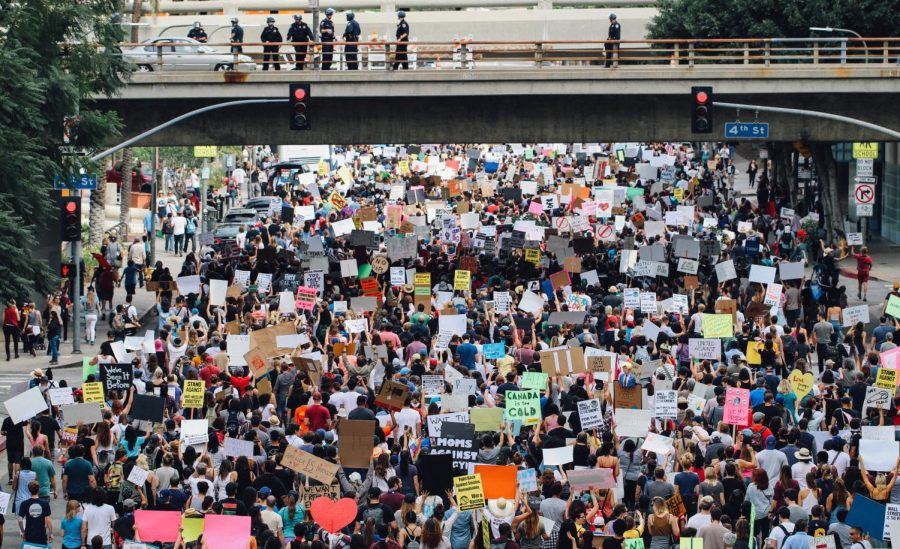 A+protest+in+Los+Angeles.+Photo+Courtesy+of+Alex+Radelich+on+Unsplash.